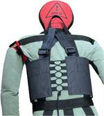 Weight Vest for Training Manikin, Shown on Outside of Coveralls for Clarity