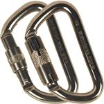 Stainless Steel Offset 'D' Carabiner