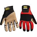 Technical Rope Rescue Gloves Red